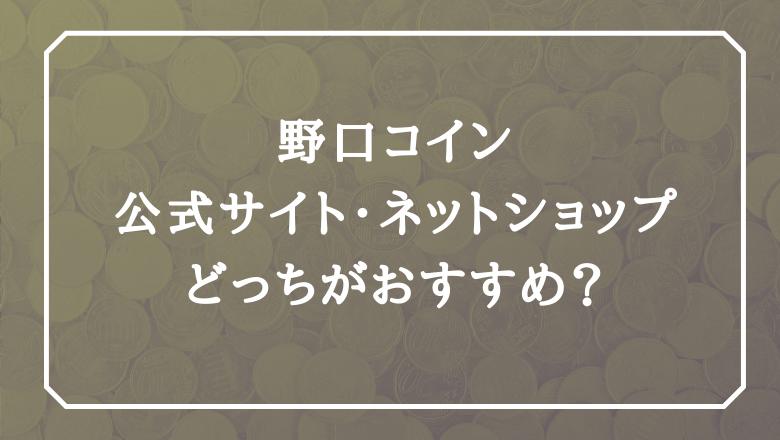 野口コイン評判_公式サイトかネットショッピングどっち?
